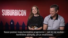 """""""Suburbicon"""": Julianne Moore i Matt Damon o filmie"""