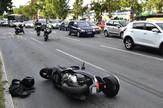 Novi Sad263 saobracajna nesreca na bulevaru oslobodjenja motor motorciklista   foto Nenad Mihajlovic