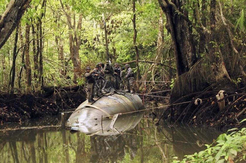 Pomysłowość przemytników narkotyków przekroczyła kolejną granicę. W dżungli Ekwadoru zbudowali łódź podwodną