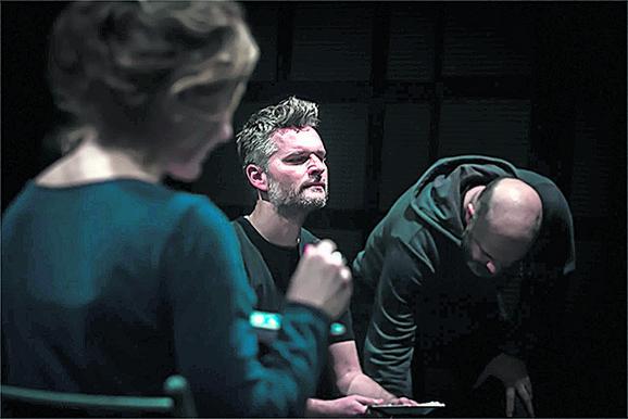 Branislav Jerković i Nenad Pećinar na probi predstave