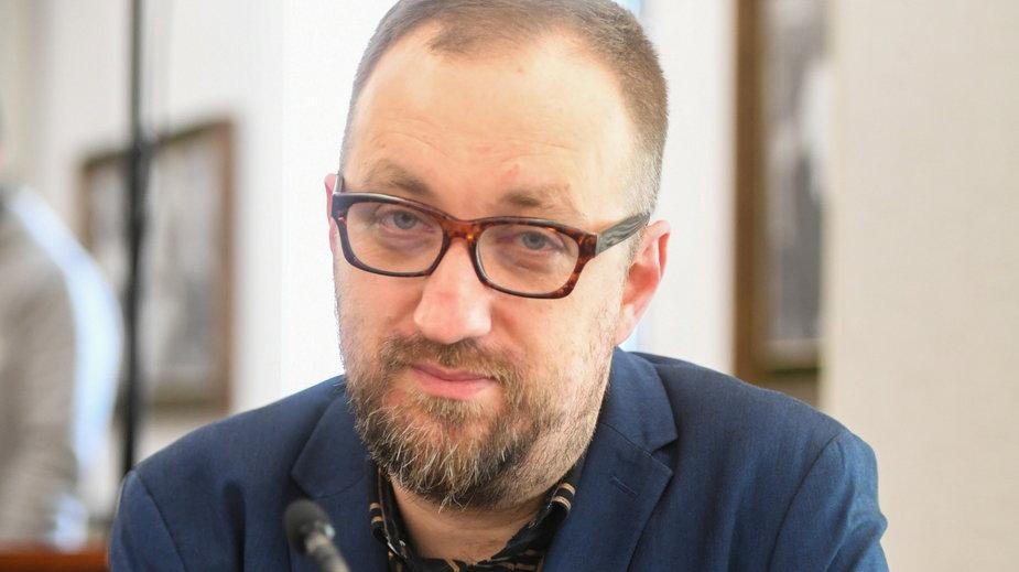 Michał Nogaś podczas obrad Senatu nt. sytuacji w Polskim Radiu
