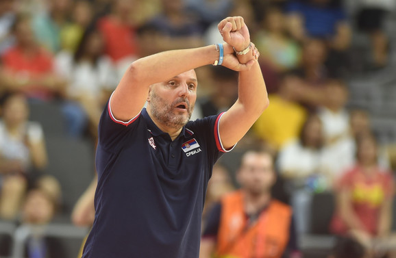 Aleksandar Đorđević na meču Srbija -SAD