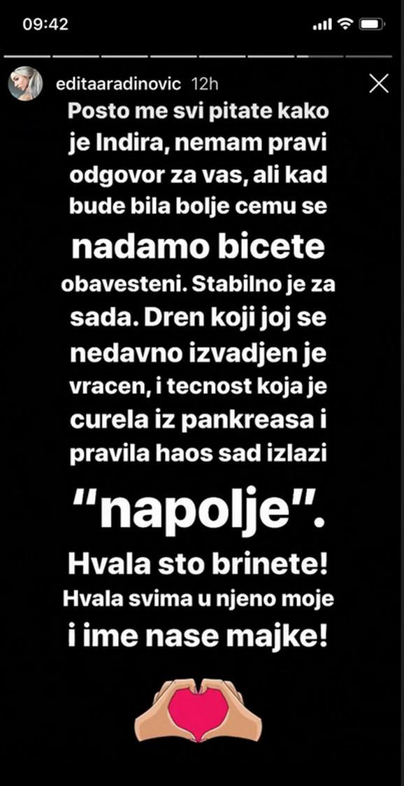Edita o Indi Aradinović