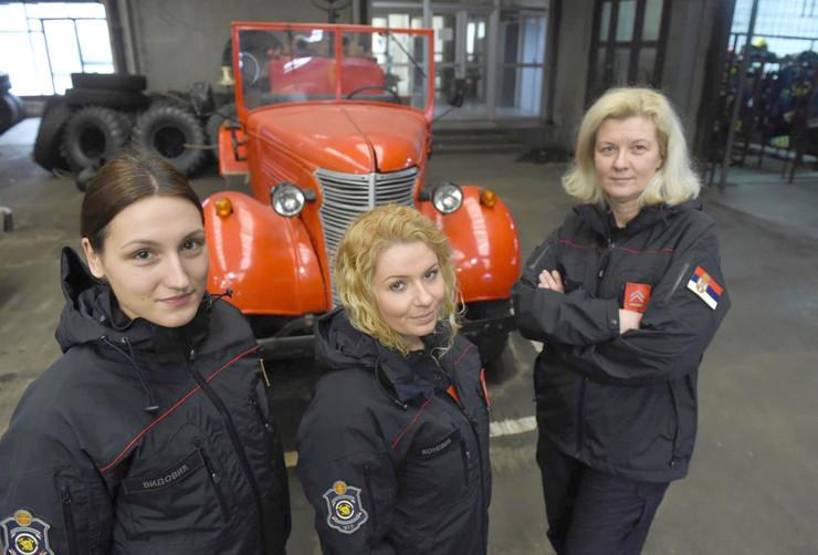 Tri heroine među ženama vatrogascima: Milena Vidojević, Jelena Konević i Dragana Tadić