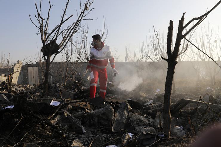 Ukrajinski avion se srušio u Iranu Tanjug AP