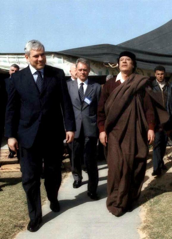 Prošle godine u septembru delegacija Srbije pozvana je na obeležavanje 40 godina libijske revolucije: Tadić i Gadafi