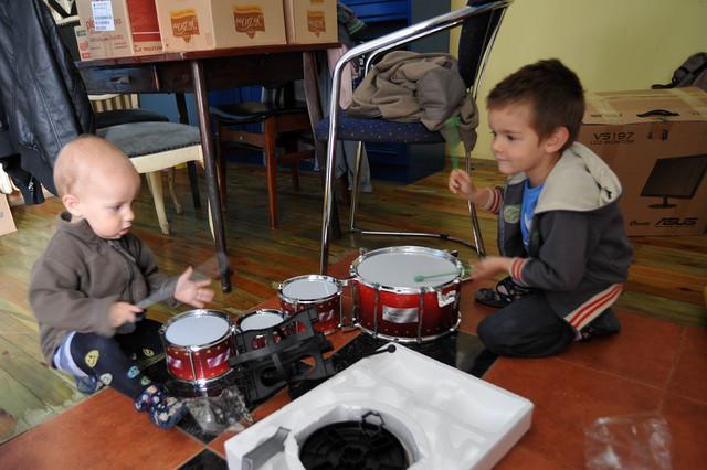 Andrej otkrio talenat za bubnjeve
