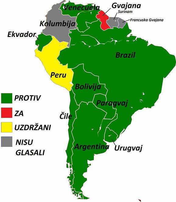 ZELENIKONTINENTJužna Amerika skoro jednoglasno glasala protiv prijema Kosova u Unesko