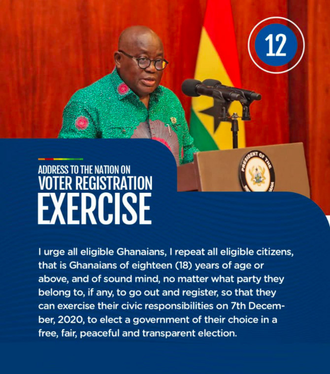 Eligible Ghanaians to endeavor to register.