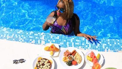Radio Maisha's Mwende Macharia jets off to a lavish vacation (Photos)