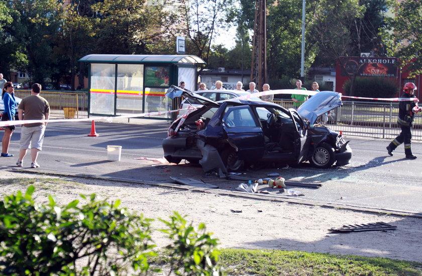 Pijany kierowca taranował samochody w Łodzi