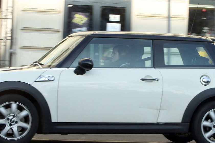Kwaśniewska porysowała auto