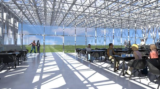 Punkt widokowy z tarasem w projekcie docelowego portu lotniczego w Radomiu