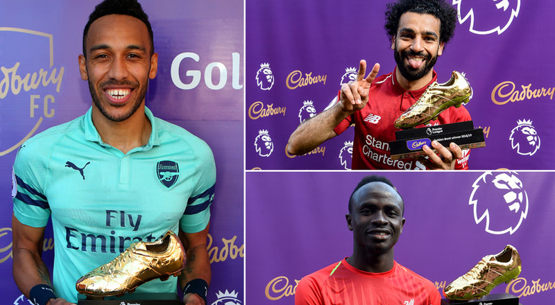 Three African players win the Golden Boot award for the first time in English Premier League history
