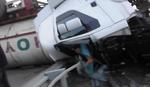 DRAMA NA AUTO-PUTU KOD NOVOG SADA Cisterna završila na krovu, kabina potpuno smrskana, a vozač iz nje IZAŠAO NEPOVREĐEN (VIDEO)