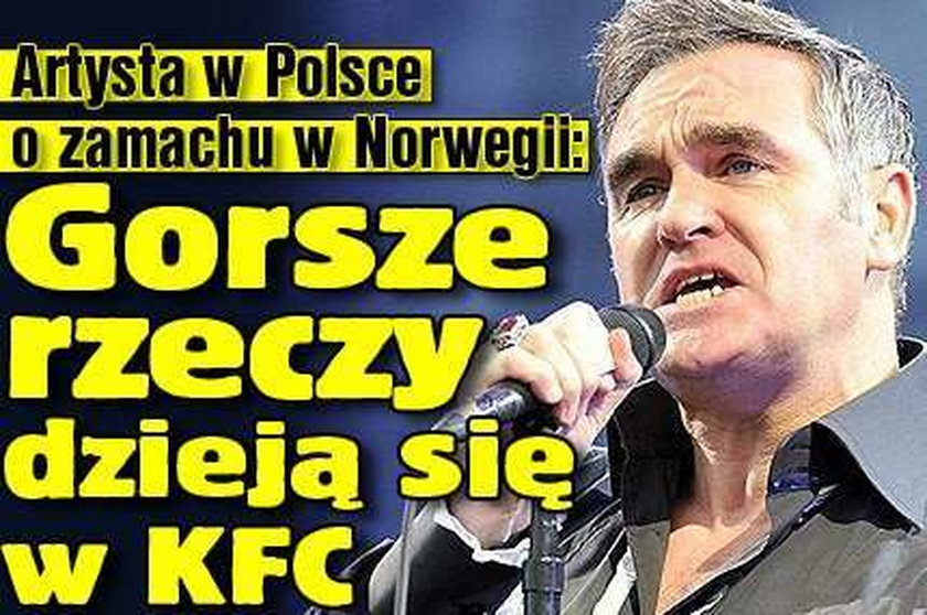 Artysta w Polsce o zamachu w Norwegii: Gorsze rzeczy dzieją się w KFC