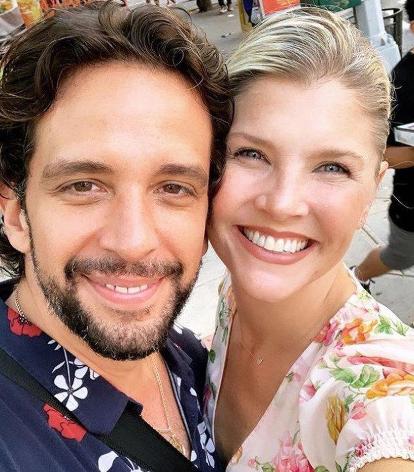 Nick Cordero z żoną