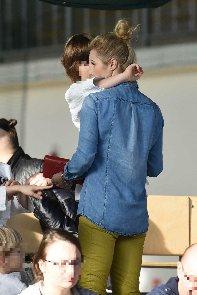 Joanna Brodzik z synem