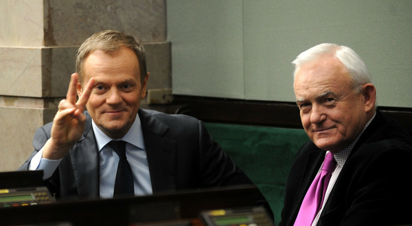 Donald Tusk i Leszek Miller.