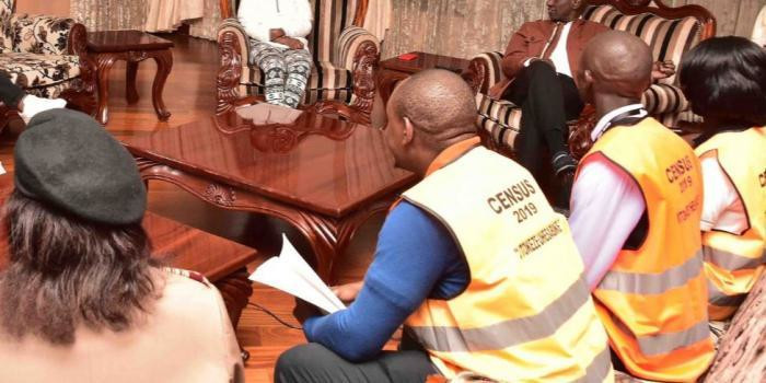 Census officials at DP William Ruto's residence on Saturday