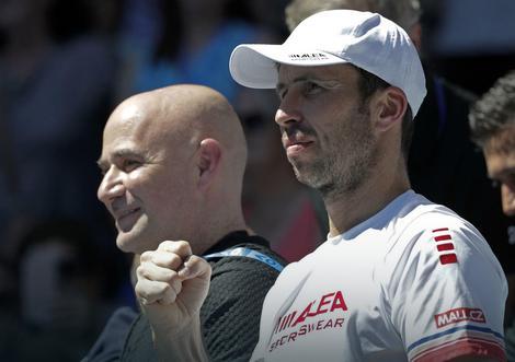 Podrška: Andre Agasi i Radek Štepanek