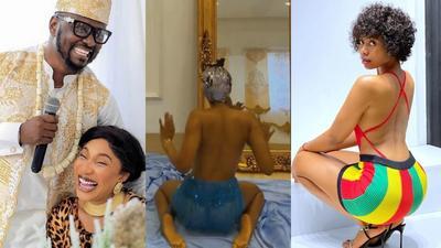 My ex has your sex tapes; Tonto Dikeh warns famous Instagram twerk queen (SCREENSHOT)