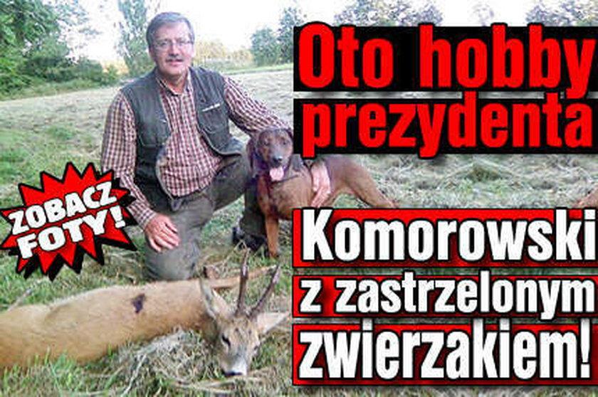 Komorowski z martwym zwierzakiem! FOTO