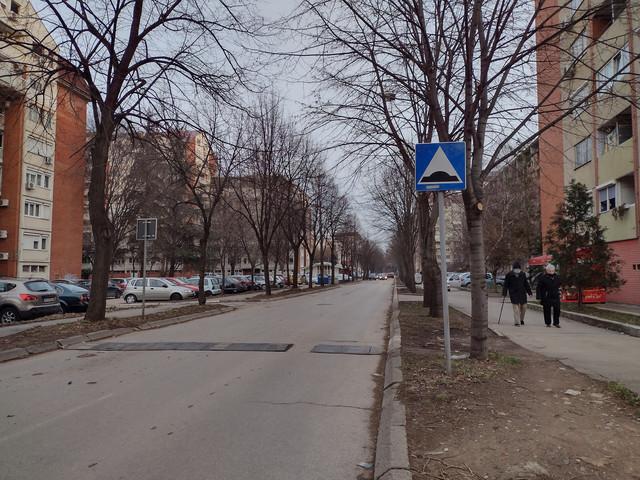 Ulica Branka Krsmanovića gde je poslednji put lociran telefon Jovana Veselinovića