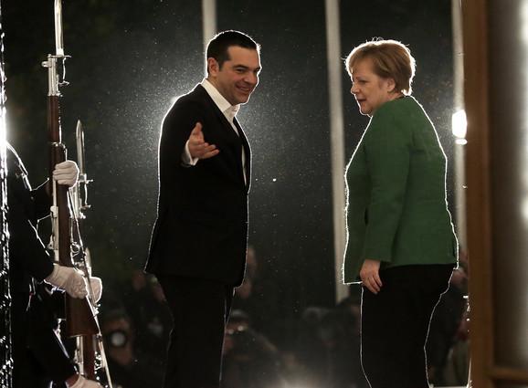 Aleksis Cipras i Angela Merkel