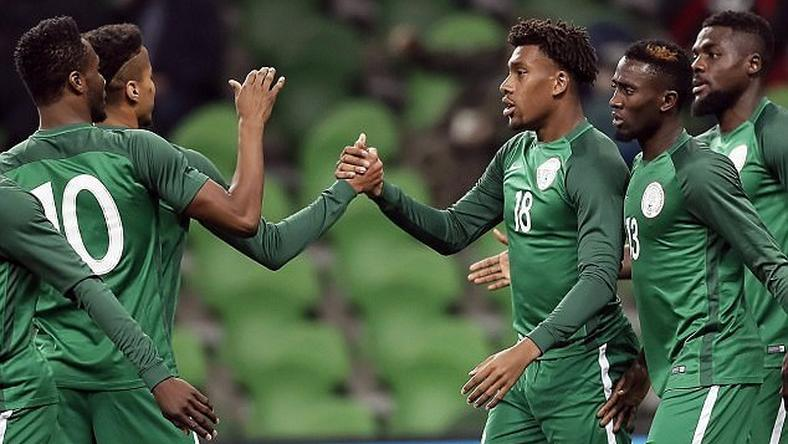 John Mikel Obi, Alex Iwobi, Wilfred Ndidi and John Ogu