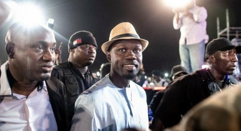 Ousmane Sonko en tournée lors de la campagne présidentielle de 2019