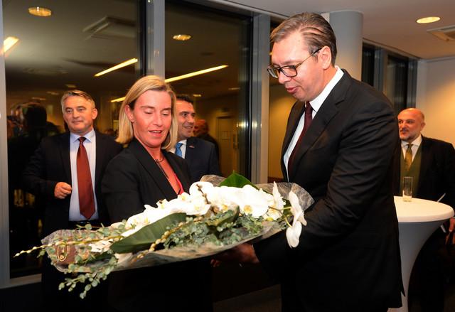 Frederika Mogerini i Aleksandar Vučić