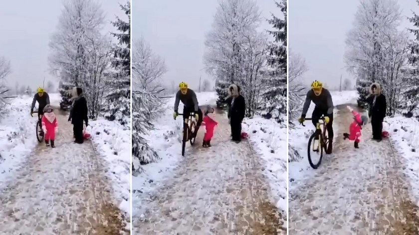 Rowerzysta brutalnie kopnął 5-latkę. To nagranie wywołało burzę w sieci