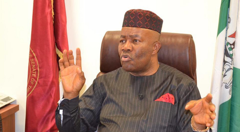 2019 Budget: Saraki, Dogara's inability to deliver speech, sign of weakness says Akpabio