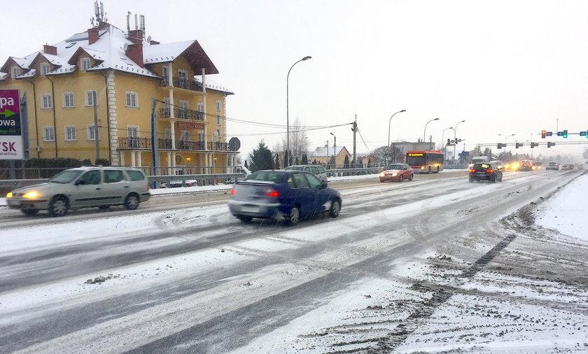 Śnieżyce w Rzeszowie