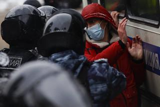 Rosja: 750 osób ukaranych aresztem za protesty od 23 stycznia