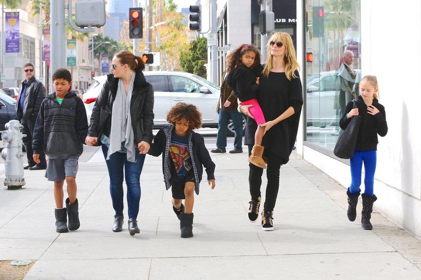 Heidi Klum z dziećmi