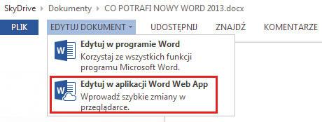 Co Potrafi Word 2013