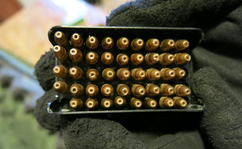 ... ponad 100 sztuk amunicji