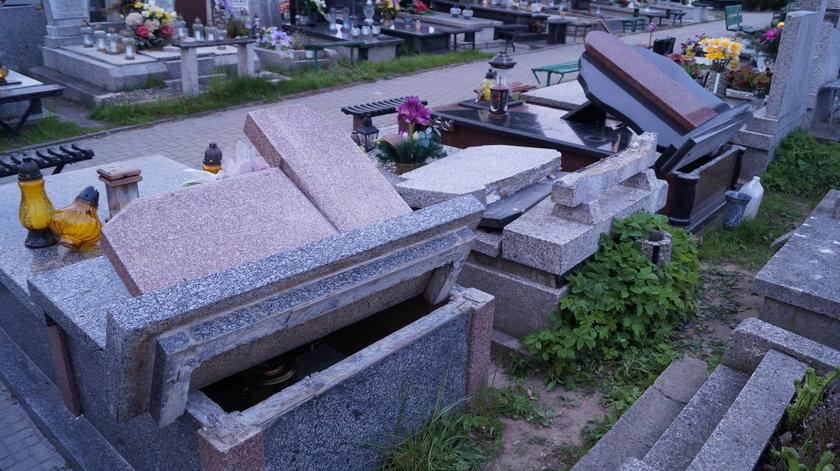 Wandale zniszczyli cmentarz