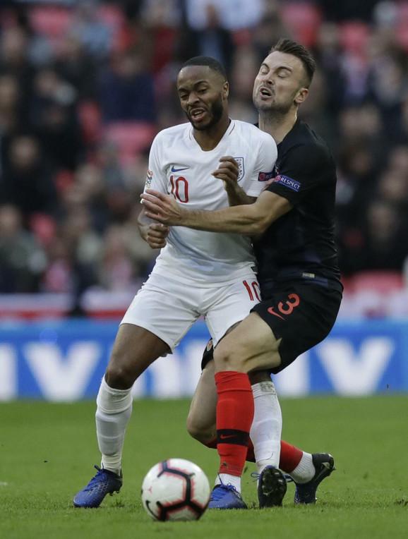 Detalj sa meča između Hrvatske i Engleske