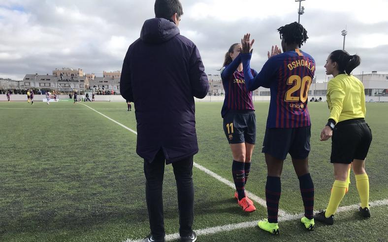 Asisat Oshoala and Alexia Putellas (Twiter/Barcelona Femení)