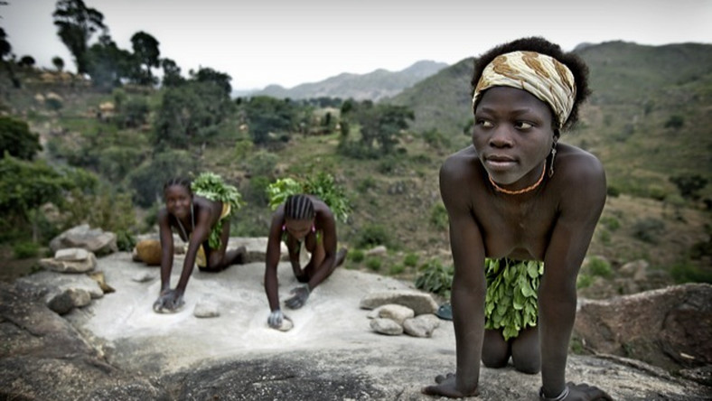 Koma people are one of the remaining naked tribes in Nigeria (Middle Africa)