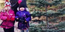 Dziewczynki szły przez ciemny las. Szukały pomocy dla taty