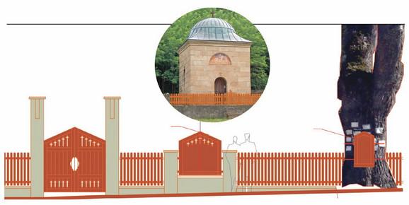 Ideja: Oko porte će biti podignuta ograda sa spomen-pločom