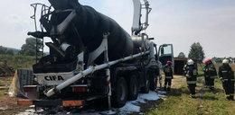 Porażony prądem operator i spalona betoniarka. Tragedia pod Krosnem