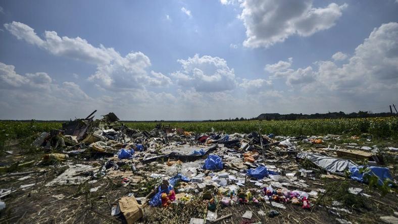 Szczątki samolotu MH17 malezyjskich linii lotniczych