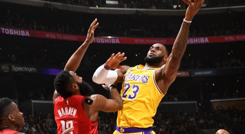 Lakers revive playoff hopes with win over Rockets after NBA All star break