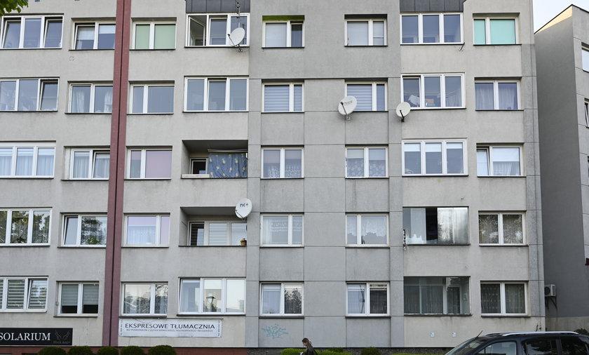 W tym bloku przy ul. Odrodzenia w Lubinie doszło do tragedii