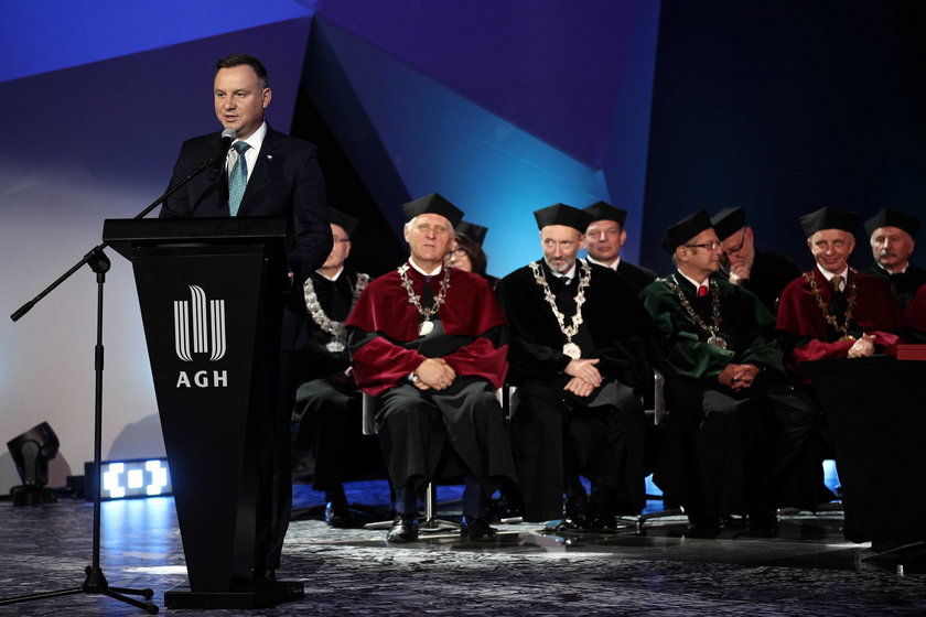 Prezydent Andrzej Duda na AGH